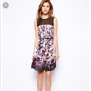 Coast Sonya Mesh Multicolored Dress size 6